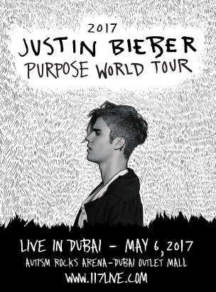 Justin Bieber- The Purpose World Tour poster