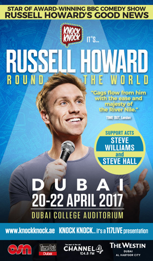 Russell Howard Round the World - Live Tour poster