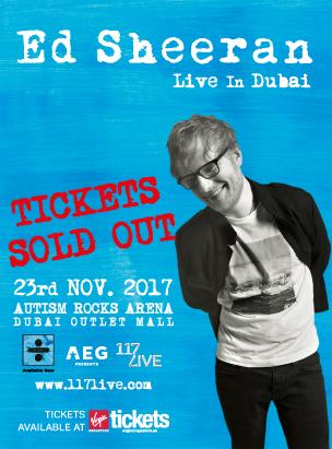 Ed Sheeran Live in Dubai  poster