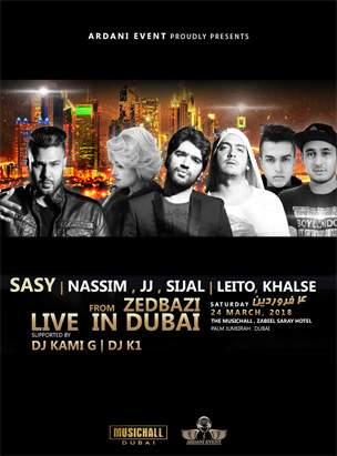 ZEDBAZI & SASY LIVE IN DUBAI  poster