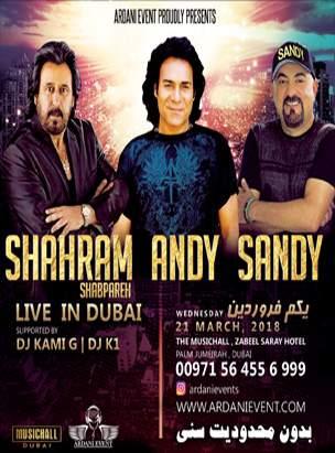 SHAHRAM SHABPAREH , ANDY , SANDY LIVE IN CONCERT  poster