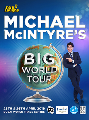 DXBLAUGHS: MICHAEL MCINTYRE'S BIG WORLD TOUR poster