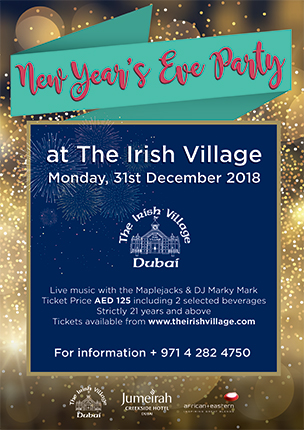 New Year's Eve Party at The Irish Village poster