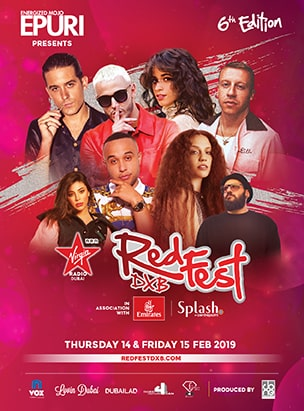 Virgin Radio RedFestDXB  poster