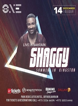 Shaggy Live in Bahrain  poster