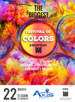 BIGGEST FESTIVAL OF COLORS poster