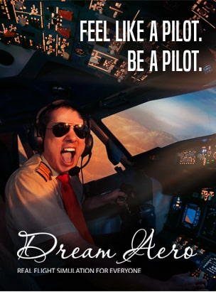 Dream Aero Full Motion Flight Simulation Experience  poster