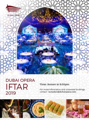 Dubai Opera Iftar poster