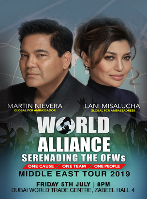 World Alliance Middle East Tour 2019 poster