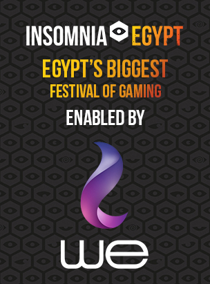 Insomnia Egypt Gaming FestivalENABLED BY WE poster