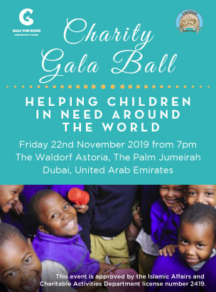 Gulf for Good and Larchfield Charity Gala Ball 2019  poster