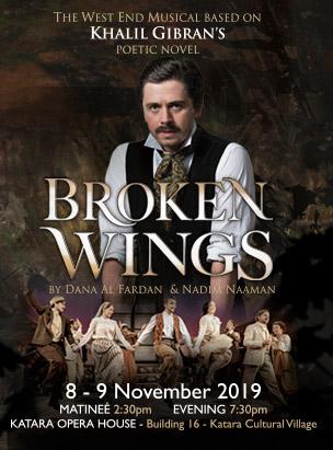 "Khalil Gibran's ""Broken Wings Musical"" by Nadim Naaman & Dana Al Fardan poster"