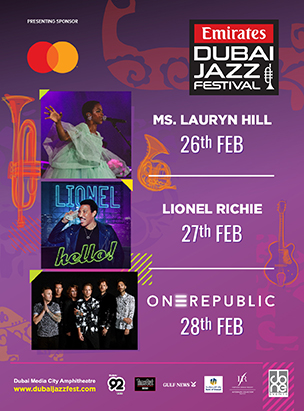 Emirates Airline Dubai Jazz Festival 2020 poster