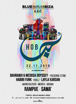 Hob Festival at Blue Marlin Ibiza UAE poster