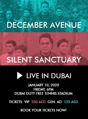 December Avenue & Silent Sanctuary Live in Dubai poster