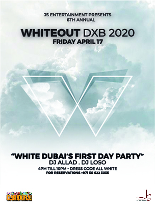 WHITE OUT 2020 DXB at WHITE Dubai on Friday April 17th poster