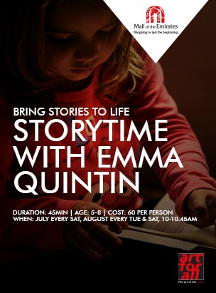 """""""Once Upon a Time"""" Storytelling sessions with Miss Emma! poster"""