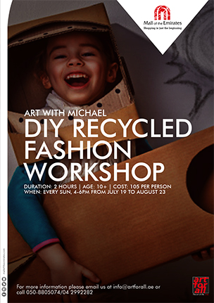 Art with Michael: Recycled Fashion Workshop poster