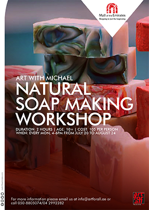 Art with Michael: Hands-On Natural Soap Making Workshop poster