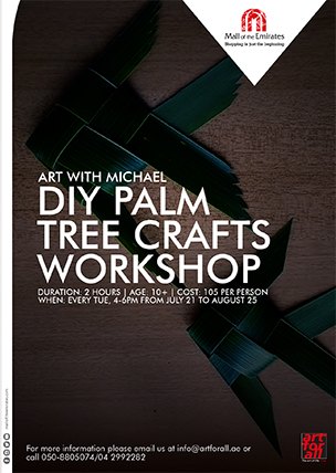 Art with Michael: Palm Leaf Roses Workshop poster