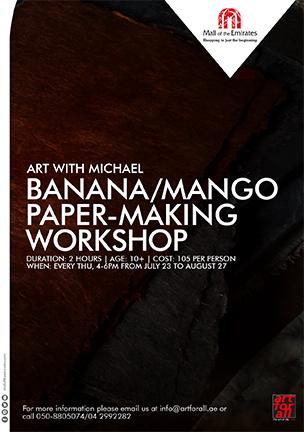 Art with Michael: Banana / Mango Paper-Making Workshop poster
