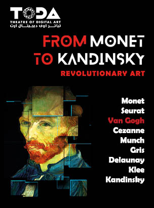 "Digital Art show: ""From Monet to Kandinsky. Revolutionary Art"" poster"