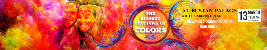 OFFICIAL FESTIVAL OF COLORS AT AL BUSTAN PALACE HOTEL