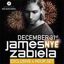 Back2basics NYE featuring JAMES ZABIELA