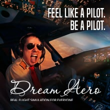Dream Aero Full Motion Flight Simulation Experience
