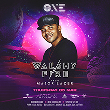 Walshy Fire of Major Lazer Live at The One!