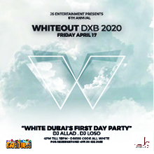 WHITE OUT 2020 DXB at WHITE Dubai on Friday April 17th