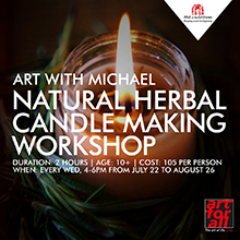 Art with Michael: Natural Herbal Candle Making Workshop