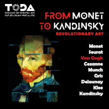 "Digital Art show: ""From Monet to Kandinsky. Revolutionary Art"""